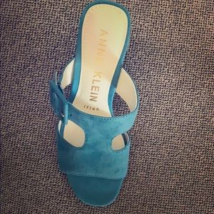 Blue Anne Klein wedge shoes